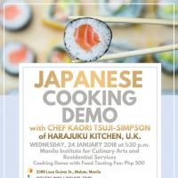 Japanese Cooking Demo by Chef Kaori
