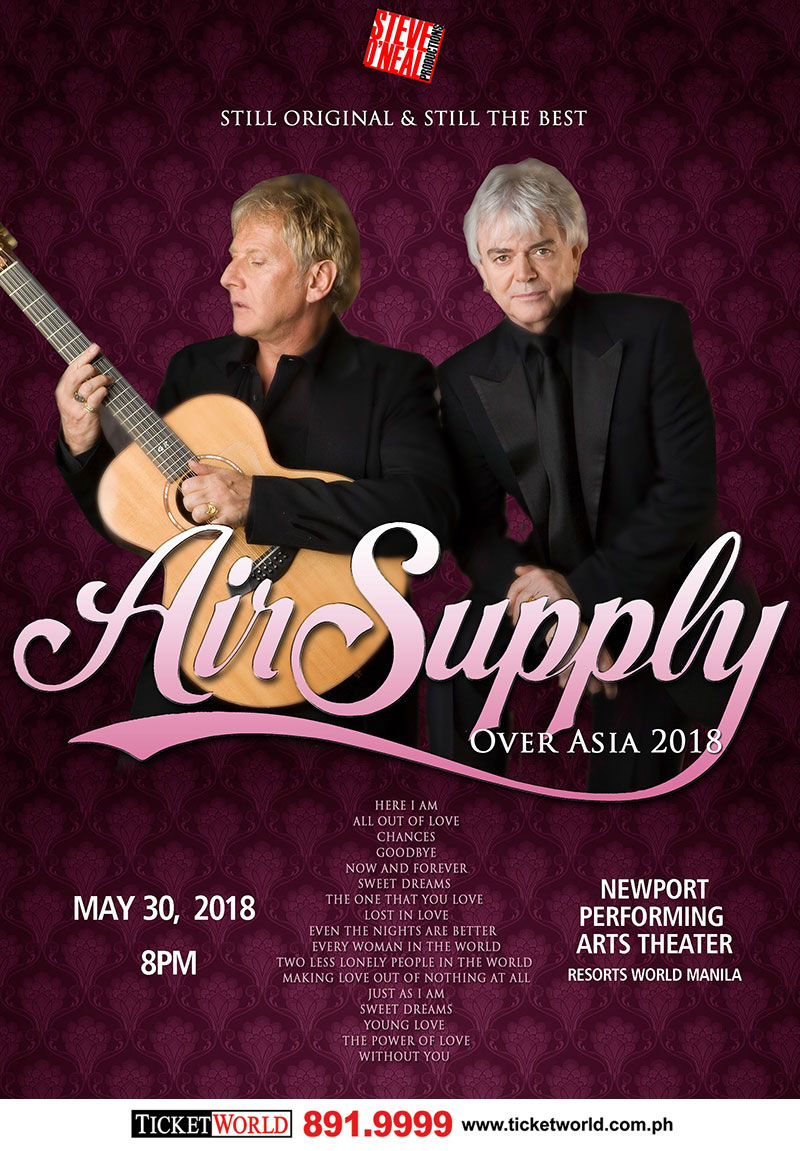 AIR SUPPLY Over Asia 2018