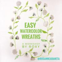 Easy Watercolor Wreaths