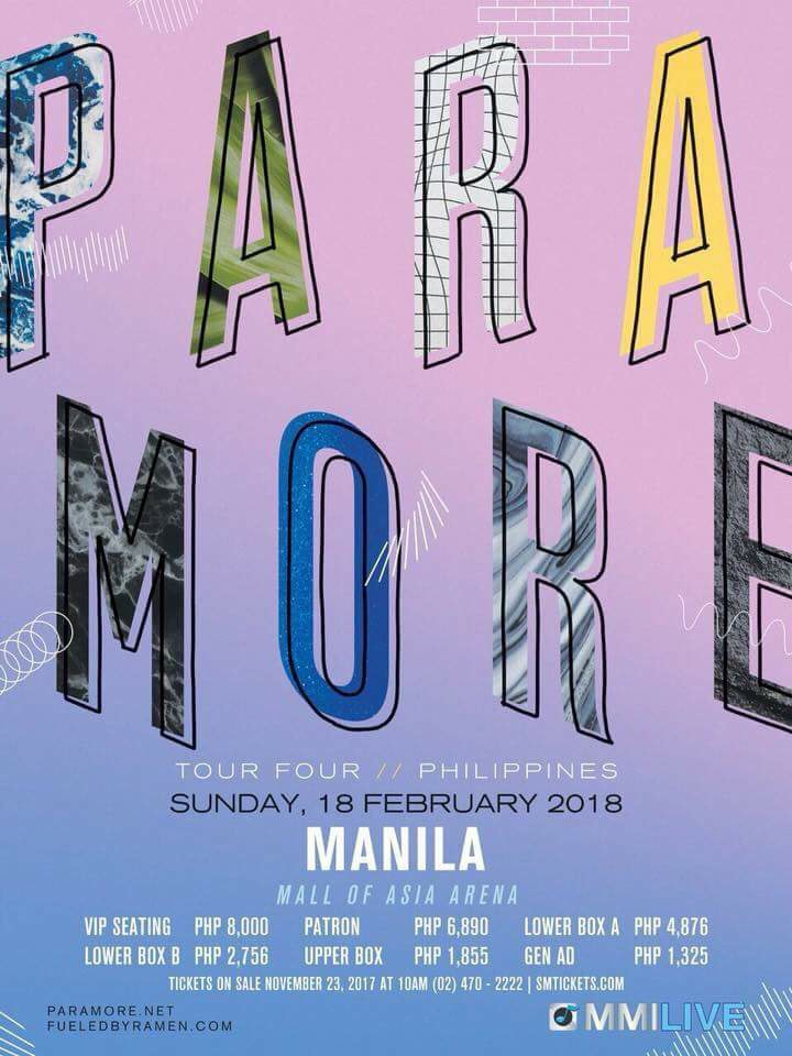 Paramore Live in Manila 2018