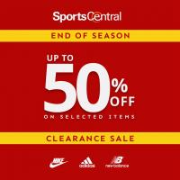 Sports Central End of Season Clearance Sale at sm city manila