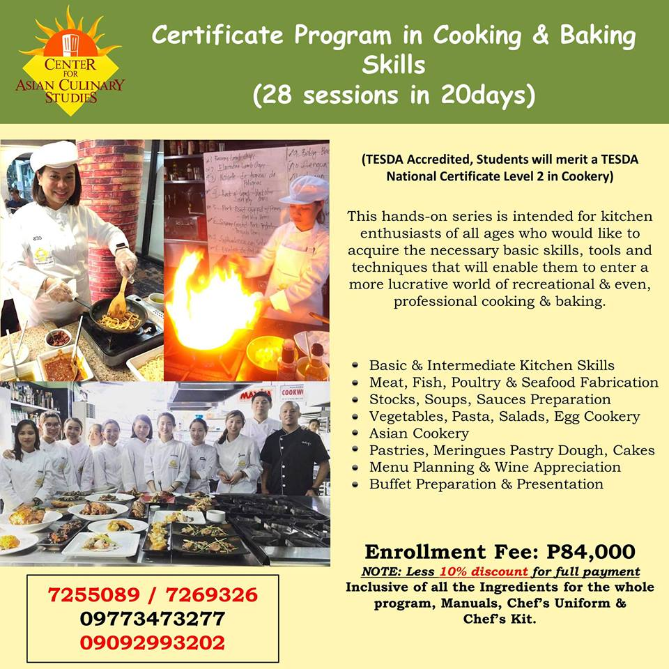 Cooking & Baking Skills 20 Days - Sunday CLASS