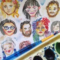 Watercolor Little Faces Workshop