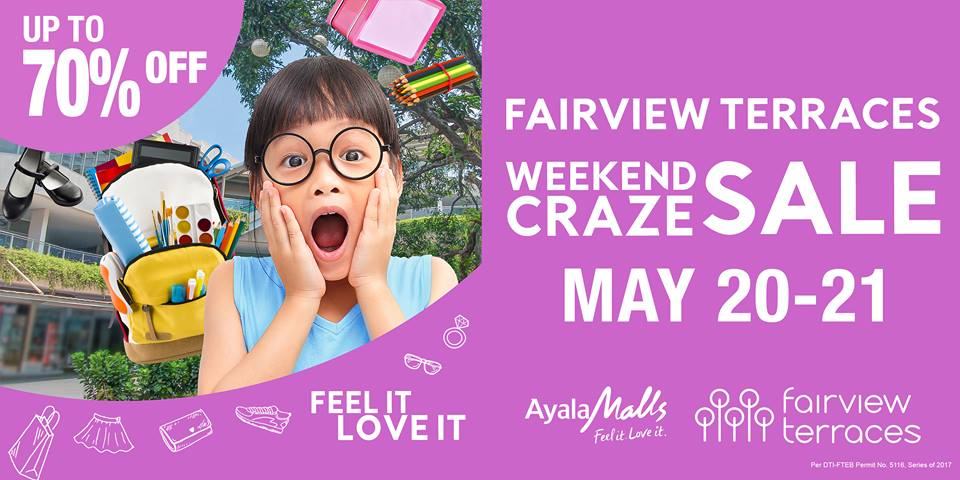 FAIRVIEW TERRACES WEEKEND CRAZE SALE