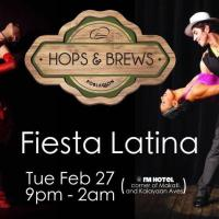 FIESTA LATINA DANCE TUESDAY AT HOPS & BREWS