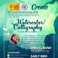 ALT SUMMER WORKSHOP 2018 ( WATERCOLOR / CALLIGRAPHY )