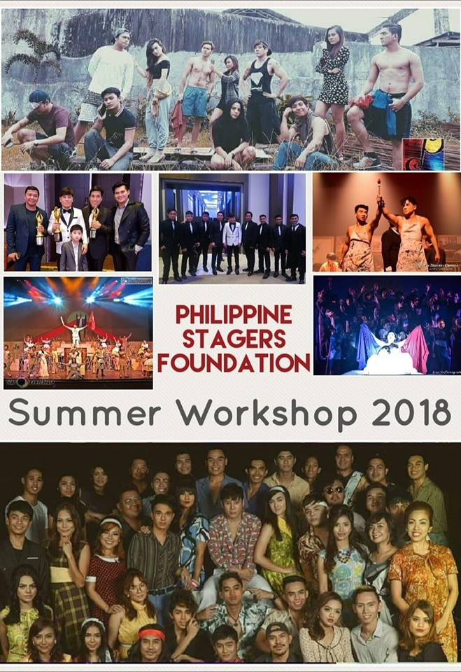 PHILIPPINE STAGERS FOUNDATION SUMMER WORKSHOP 2018