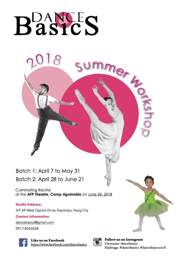DANCE BASICS SUMMER WORKSHOP 2018