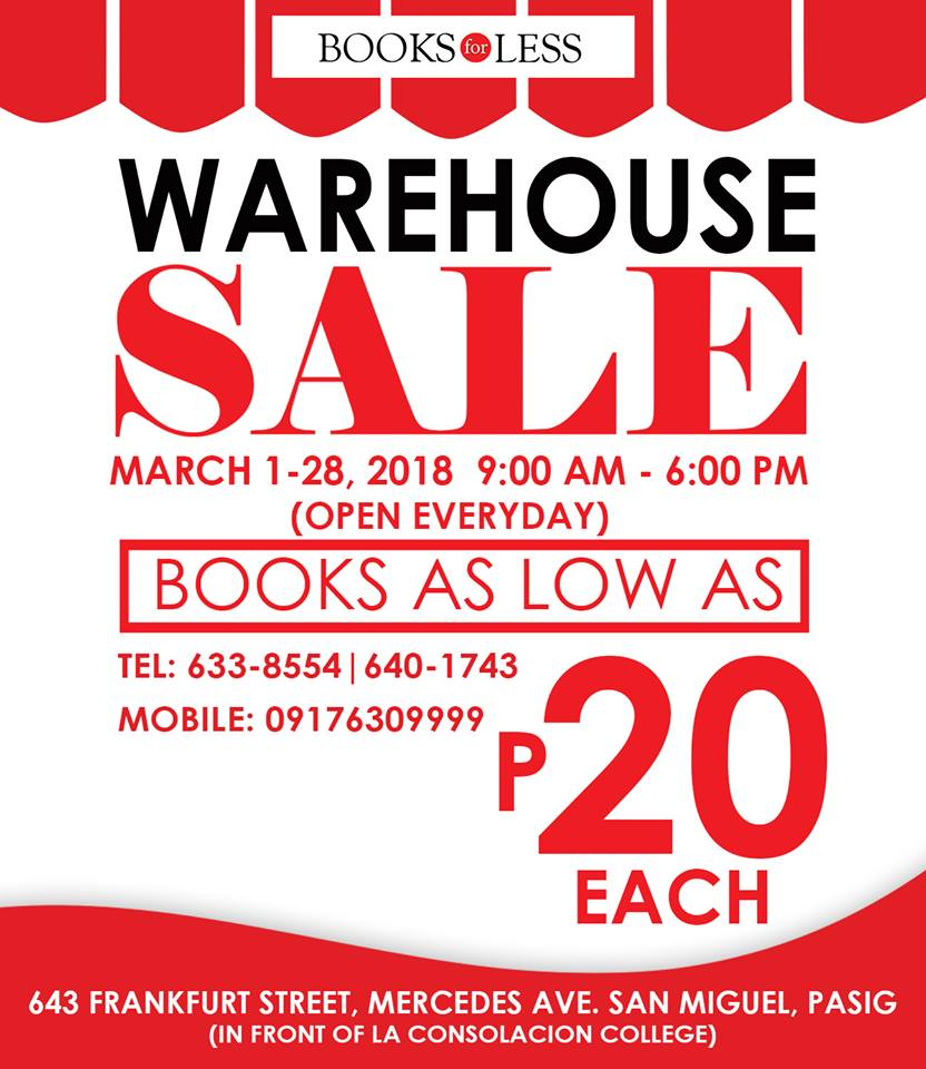 BOOKS FOR LESS WAREHOUSE SALE 2018