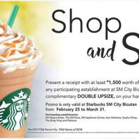 Shop and Sip Starbucks Promo