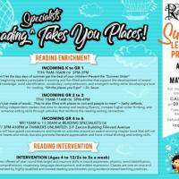 READING SPECIALISTS TAKES YOU PLACES