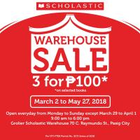 SCHOLASTIC WAREHOUSE SALE: MAR-MAY 2018 + VOUCHER GIVEAWAY