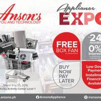 ANSON'S APPLIANCE EXPO AT TRINOMA: MARCH 2018