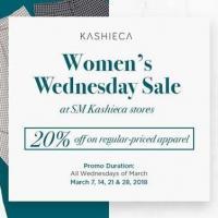 WOMEN'S WEDNESDAY SALE AT SM KASHIECA STORES
