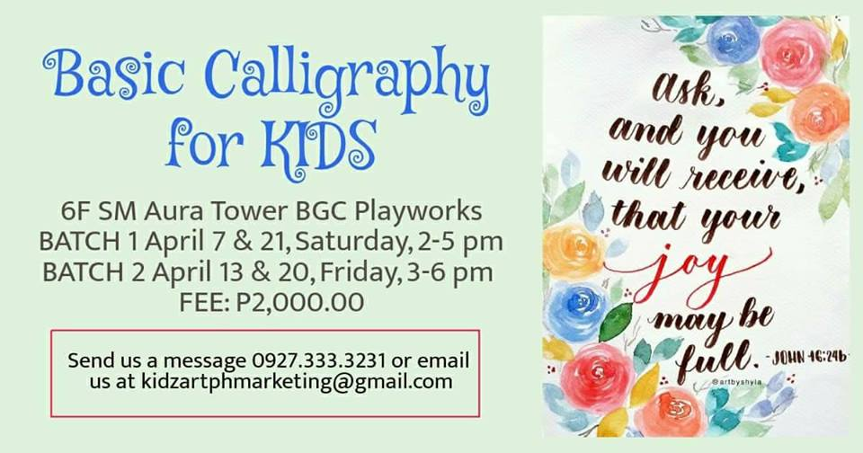 BASIC CALLIGRAPHY FOR KIDS (BATCH 1)