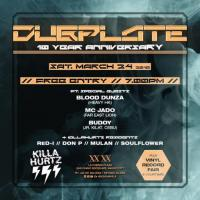 DUBPLATE 10 YEAR ANNIVERSARY AT XX XX