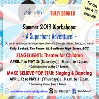 MAKE BELIEVE PRODUCTIONS: SUMMER 2018 WORKSHOPS