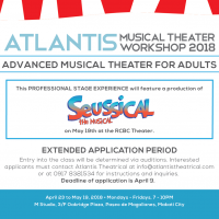 ATLANTIS Announces Advanced Musical Theater Workshop for Adults