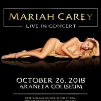 Mariah Carey Coming To Manila On October 26