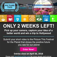 "Join Sony Pictures Television Networks ""Picture This Festival for the Planet"" and Win Big Prizes Including a Trip to Hollywood"