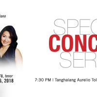Special Concert Series 2018 : Arthur Espiritu, tenor