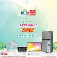 METRO STORES SUMMER APPLIANCE SALE: TIL MAY 2018