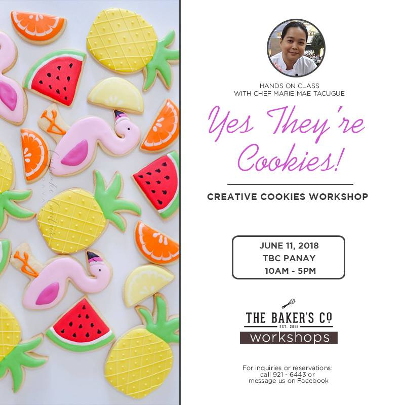 Creative Cookies Workshop with Chef Marie Mae Tacugue