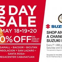 SM MALLS 3-DAY SALE: MAY 18-20 2018