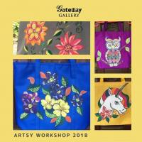 Paint me a bag art workshop with Ginny Guanco