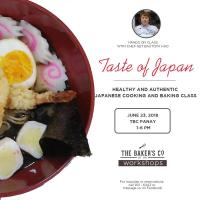 Japanese Cooking and Baking Workshop with Chef Get Bautista Hao