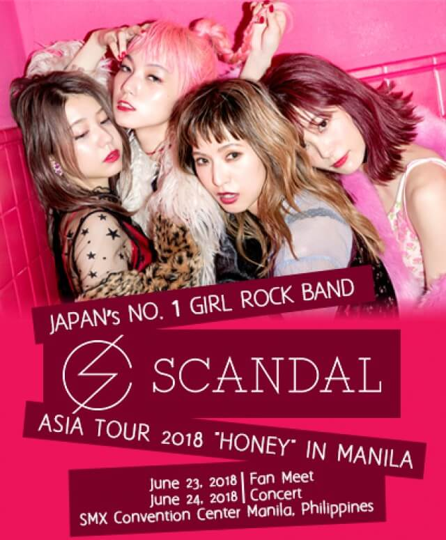 "Scandal Asia Tour 2018 ""Honey"" In Manila"