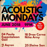 ACOUSTIC MONDAYS AT HANDURAW PIZZA MANGO SQUARE