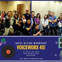 VOICEWORX 45: Basic Voice Acting and Dubbing Workshop (Year 13)