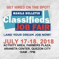 Manila Bulletin Classifieds Job Fair 2018