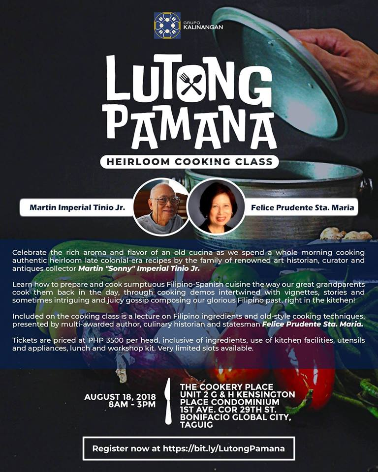 Lutong Pamana Heirloom Cooking Class with Sonny Tinio Jr.
