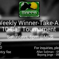 MAPPA Winner Take All 10 Ball Tournament