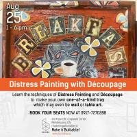 Distress Painting with Découpage
