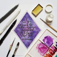 Brush Calligraphy and Watercolor Workshop