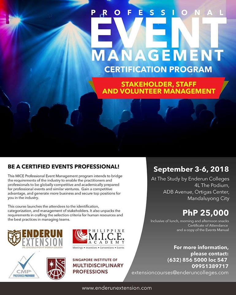 Professional Event Management Certification Program Whats Happening