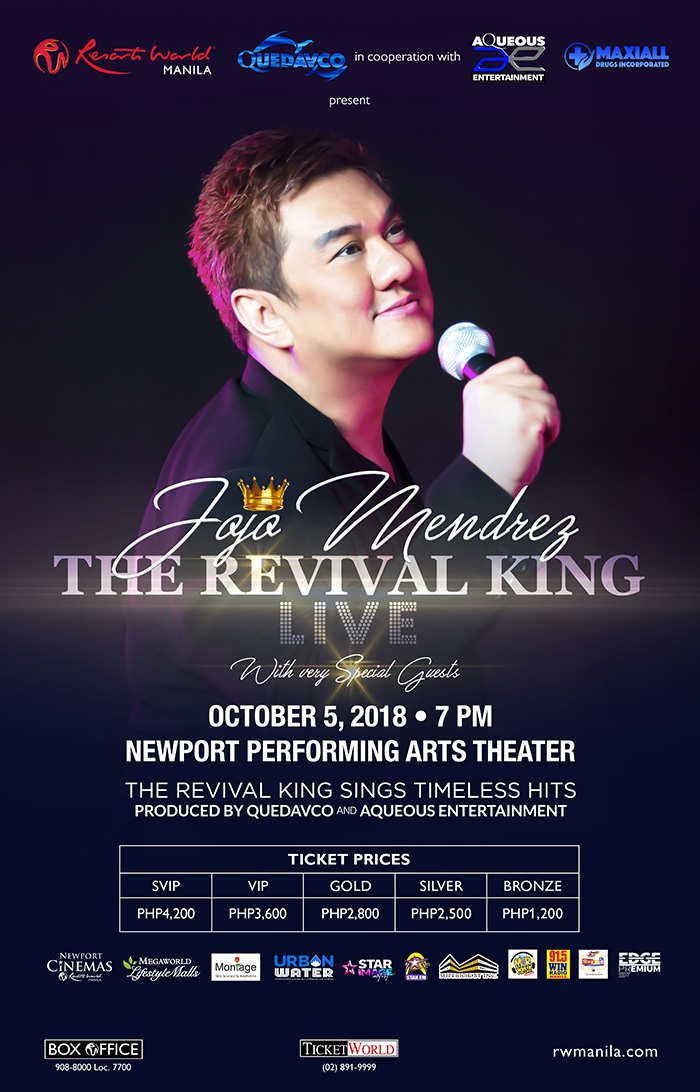 Jojo Mendrez The Revival King LIVE