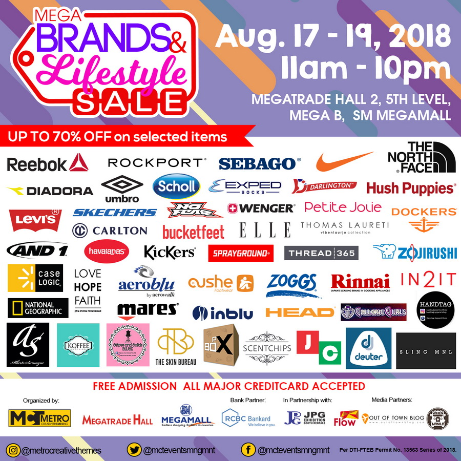 Megabrands and Lifestyle Sale 2018