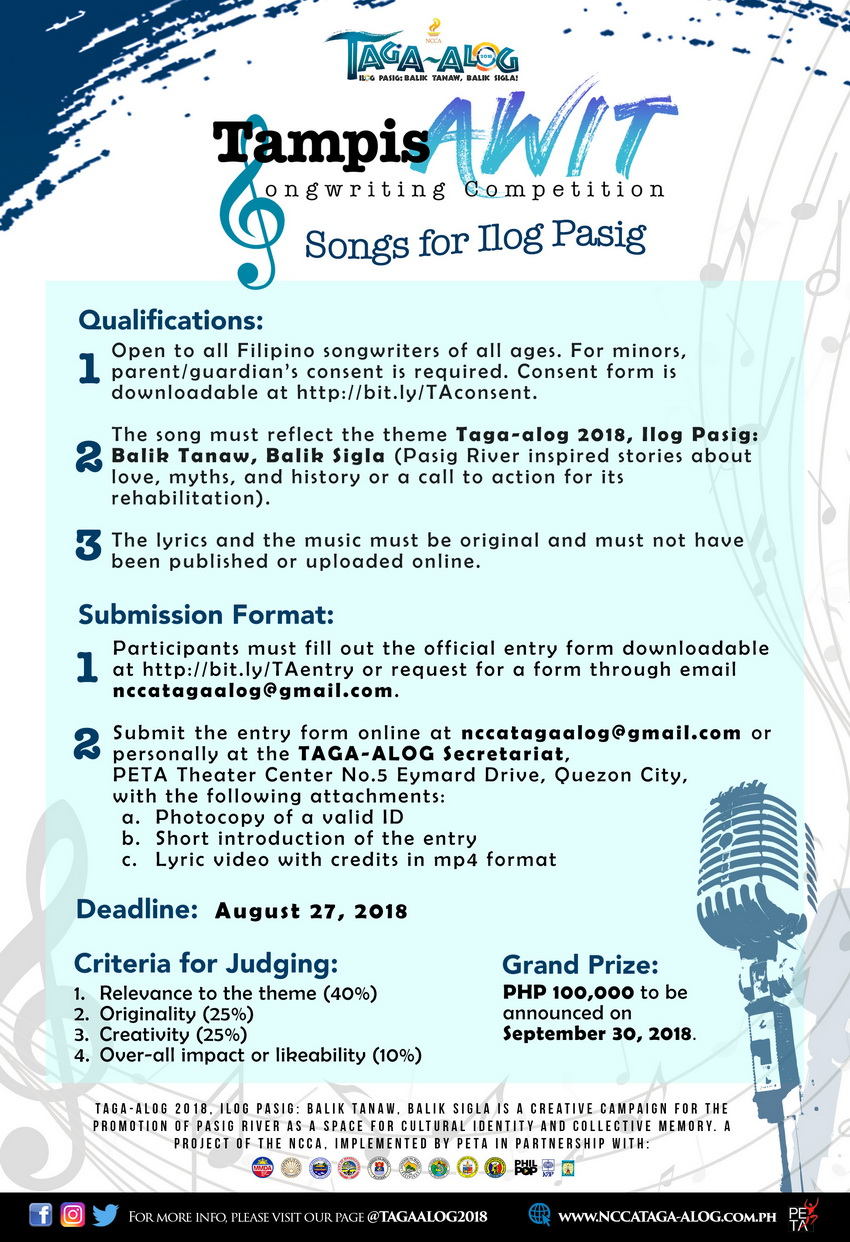 NCCA Ilog Pasig Project Offers Free Writing and Filmmaking Workshops