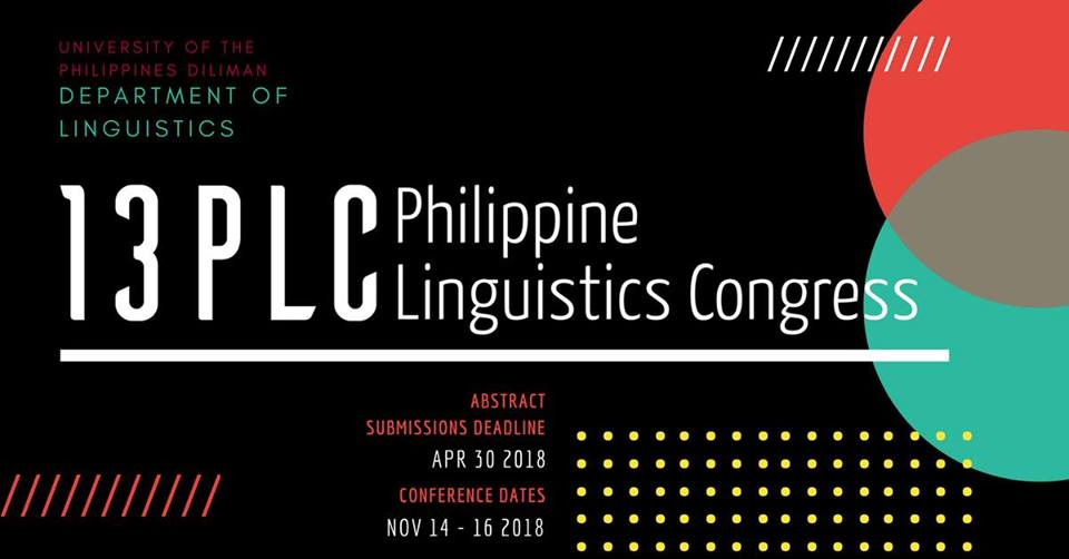 13th Philippine Linguistics Congress