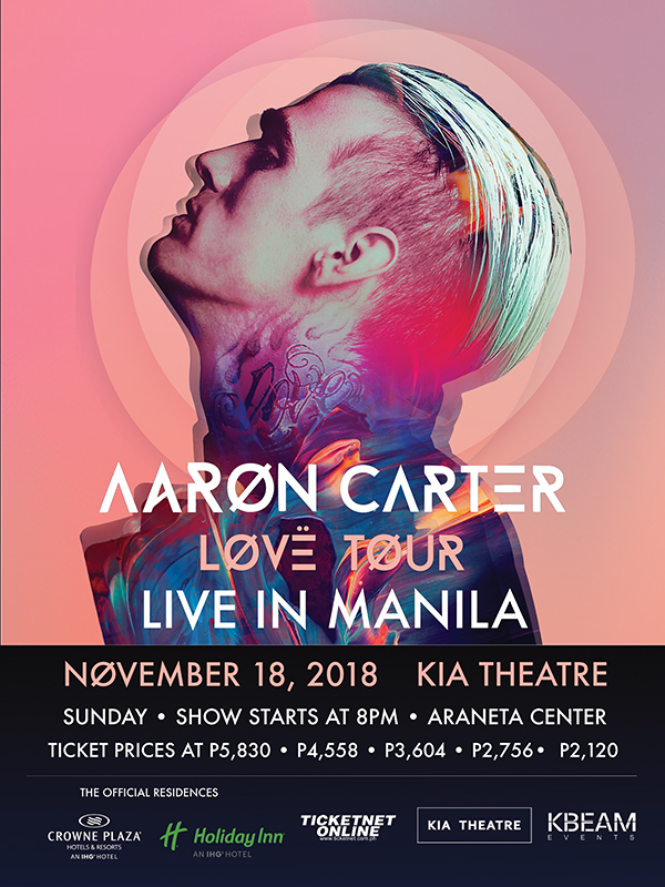 Aaron Carter Love Tour Live in Manila