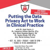 Putting the Data Privacy Act to Work in Clinical Practice