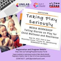 Taking Play Seriously: Telling Stories on Play Media Workshop