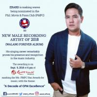 "PMPC Star Awards New Male Recording Artist 2018 Nominee ""ERARD"" Launches New Music Under Star Music"