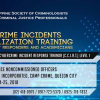 CERTIFICATION WORKSHOP FOR CYBERCRIME INCIDENT RESPONSE TRAINORS