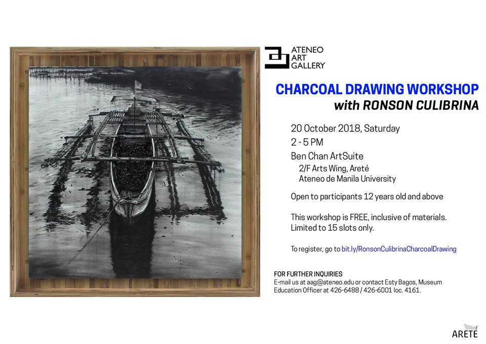 Charcoal Drawing Workshop with Ronson Culibrina