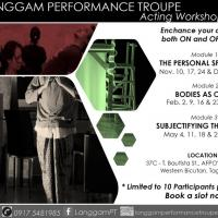Langgam Performance Troupe (LPT) Acting Workshop Series